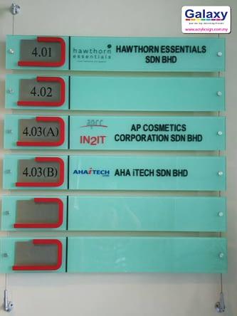 Floor Directory Sticker
