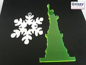 Laser Cut Fluorescent Acrylic