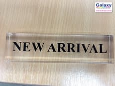 Acrylic New Arrival Sign